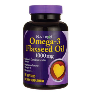 Natrol Omega-3 Flaxseed Oil (90кап)