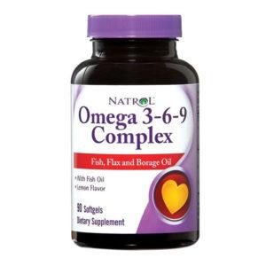 Natrol Omega 3-6-9 Complex (90гелей)