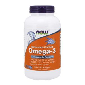NOW Omega 3 (200гелей)