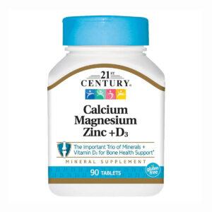 21st Century Calcium Magnesium Zinc+D3 (90таб)