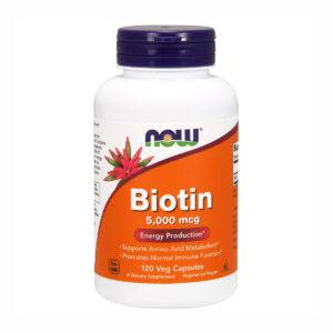 NOW Biotin 5000мкг (120кап)
